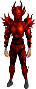 Dragon armour (sp) (heavy) equipped (female).png: Dragon full helm (sp) equipped by a player