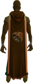 Hooded dungeoneering cape (t) equipped.png: Hooded dungeoneering cape (t) equipped by a player