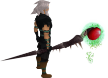 Noxious staff equipped.png: Noxious staff equipped by a player