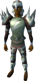 Sacred clay armour (melee) equipped (male).png: Sacred clay platebody equipped by a player