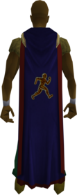 Agility cape (t) equipped.png: Cape of Accomplishment equipped by a player