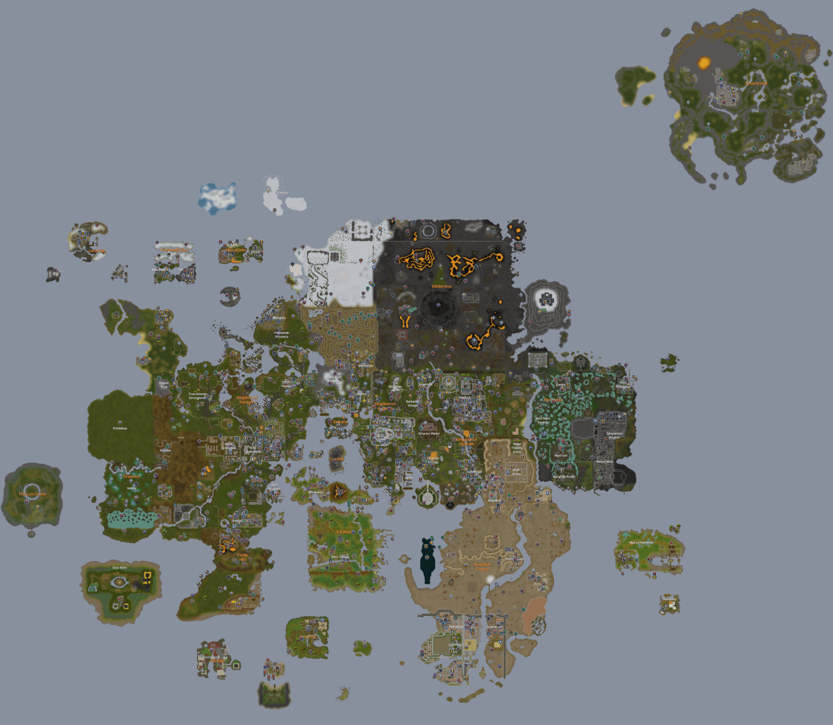 World map - The RuneScape Wiki on