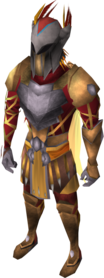 Warpriest of Armadyl armour equipped.png: Warpriest of Armadyl helm equipped by a player