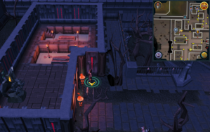 Scan clue Darkmeyer just outside building with Prayer altar.png