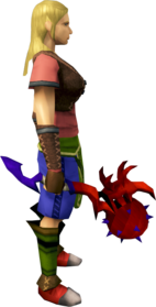 Superior dragon mace equipped.png: Superior dragon mace equipped by a player
