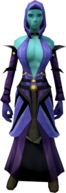 Batwing armour equipped (female).png: Batwing legs equipped by a player