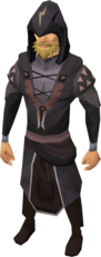 A male player wearing the Darkmeyer disguise.