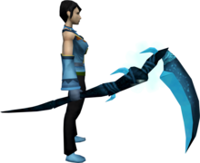 Noxious scythe (ice) equipped.png: Noxious scythe (ice) equipped by a player