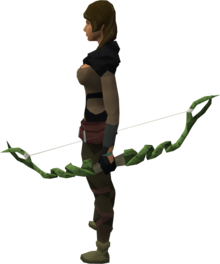 Guthix bow equipped.png: Guthix bow equipped by a player
