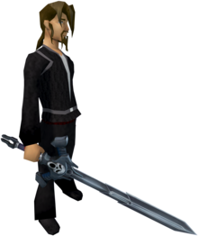 Wilderness sword 3 equipped.png: Wilderness sword 3 equipped by a player