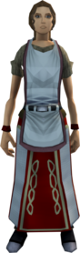 Builder's apron equipped (female).png: Builder's apron equipped by a player