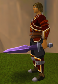 Off-hand mithril ceremonial sword I equipped.png: Off-hand mithril ceremonial sword I equipped by a player