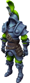 Slime hunter armour equipped.png: Slime hunter boots equipped by a player