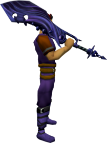 Dragon bane 2h sword equipped.png: Dragon bane 2h sword equipped by a player