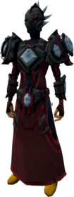 Elite tectonic armour (blood) equipped.png: Augmented elite tectonic robe top (blood) equipped by a player