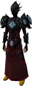 Elite tectonic armour (blood) equipped.png: Elite tectonic robe top (blood) equipped by a player