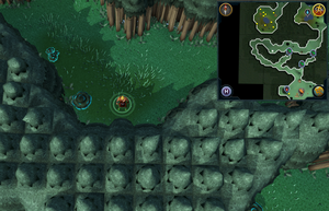 Scan clue Zanaris in passage north-west of Cosmic Altar.png