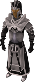 Elite void knight armour (guardian) equipped (male).png: Elite void knight robe (guardian) equipped by a player