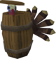A turkey in a barrel