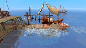 Trade at deep seas fishing platform