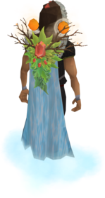 Gatherer's cape equipped.png: Gatherer's cape equipped by a player