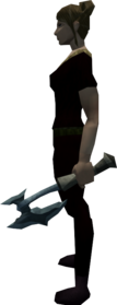 Off-hand kratonite battleaxe equipped.png: Off-hand kratonite battleaxe equipped by a player