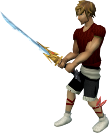 Auspicious Katana equipped.png: Auspicious Katana equipped by a player