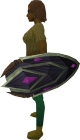 Blightleaf shield equipped.png: Blightleaf shield equipped by a player