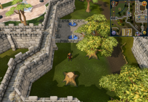 Compass clue Varrock south of two palace fountains.png