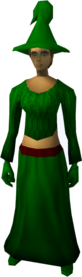 Fremennik robe outfit equipped (female).png: Fremennik hat equipped by a player