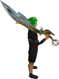 Lucky Armadyl godsword equipped.png: Lucky Armadyl godsword equipped by a player