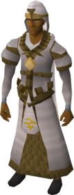 Bandos robe outfit equipped (male).png: Bandos mitre equipped by a player