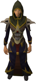 Necromancer robe armour equipped (female).png: Necromancer robe top equipped by a player