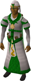 Guthix robe outfit equipped (male).png: Guthix stole equipped by a player