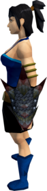 Black dragonhide shield equipped.png: Black dragonhide shield equipped by a player