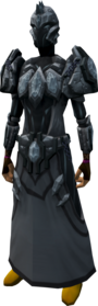 Tectonic armour set (Third Age) equipped.png: Augmented tectonic robe top (Third Age) equipped by a player