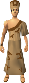 Villager outfit (brown) equipped (male).png: Villager armband (brown) equipped by a player