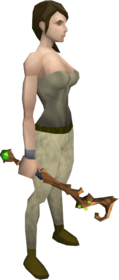 Abyssal splitbark wand equipped.png: Abyssal splitbark wand equipped by a player
