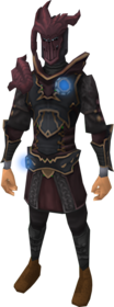 Augmented anima core armour of Zamorak equipped.png: Augmented anima core body of Zamorak equipped by a player