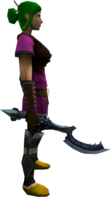 Khopesh of Tumeken (Third Age) equipped.png: Augmented khopesh of Tumeken (Third Age) equipped by a player