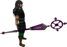 Ancient staff equipped.png: Ancient staff equipped by a player