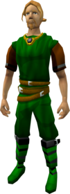 Brass necklace equipped.png: Brass necklace equipped by a player
