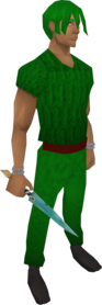 Crystal dagger equipped.png: Crystal dagger equipped by a player