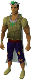 First age outfit equipped.png: First age tiara equipped by a player
