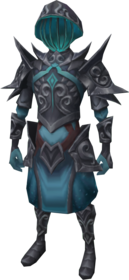 Starfire armour (melee) equipped.png: Starfire legplates equipped by a player