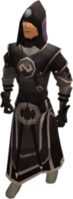 Void knight mage helm equipped.png: Superior void knight mage helm equipped by a player