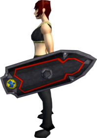Black shield (h3) equipped.png: Black shield (h3) equipped by a player