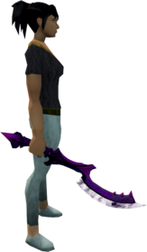 Khopesh of Tumeken (shadow) equipped.png: Khopesh of Tumeken (shadow) equipped by a player