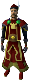 Lord marshal outfit (skirt) equipped (male).png: Lord marshal boots equipped by a player