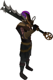 Lucky Bandos godsword equipped.png: Lucky Bandos godsword equipped by a player